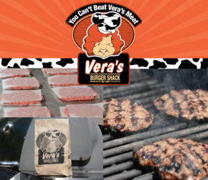 Enjoy Vera's fresh and tasty burgers and hot dogs on your backyard BBQ!